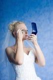 Maquillaje de la mañana de la novia imagen de archivo