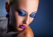 Maquillaje de la manera fotos de archivo libres de regalías