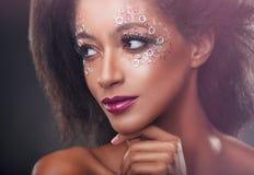 Maquillaje de la manera imagen de archivo