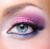 Maquillaje de la manera de un ojo femenino Fotos de archivo
