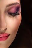 Maquillaje de la moda Foto de archivo libre de regalías