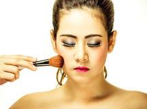 Maquillaje de la mujer fotografía de archivo