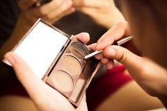 Maquillaje de la mujer Fotografía de archivo libre de regalías