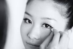 Maquillaje de la novia Fotografía de archivo
