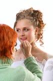 Maquillaje de la novia Imagen de archivo