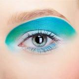 Maquillaje de la ojo-zona de la muchacha Foto de archivo libre de regalías