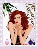 Maquillaje de la tarde Imagen de archivo libre de regalías