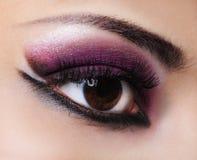 Maquillaje de la violeta de la manera imágenes de archivo libres de regalías