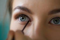 Maquillaje de la zona del ojo Imagen de archivo