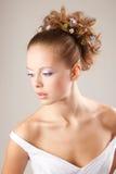 Maquillaje de las novias Imagenes de archivo