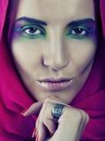 Maquillaje de los ojos mágicos imagen de archivo libre de regalías