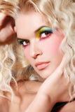 Maquillaje del arco iris fotografía de archivo libre de regalías
