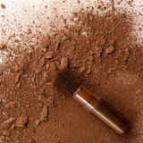 Maquillaje del cepillo imagen de archivo
