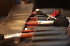 Maquillaje del cepillo Foto de archivo libre de regalías