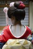 Maquillaje del cuello del geisha de la vista posterior Fotografía de archivo libre de regalías