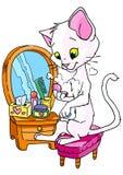 Maquillaje del gato Imagen de archivo libre de regalías
