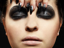 maquillaje del Gato-tema Imágenes de archivo libres de regalías