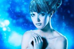 Maquillaje del invierno Fotografía de archivo libre de regalías