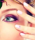 Maquillaje del ojo azul Foto de archivo