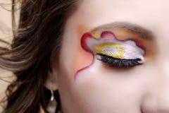 Maquillaje del primer Foto de archivo libre de regalías