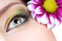 Maquillaje del resorte fotografía de archivo libre de regalías