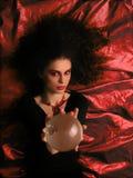 Maquillaje del teatro - bruja Imagenes de archivo