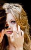 Maquillaje en el conjunto Fotografía de archivo libre de regalías