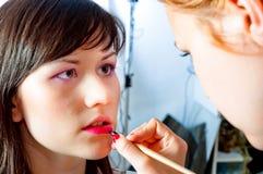 Maquillaje en un modelo foto de archivo