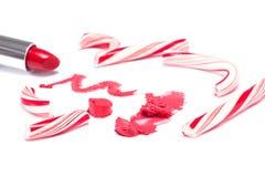 Maquillaje festivo del labio del partido Fotografía de archivo libre de regalías
