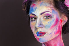 Maquillaje floral fotografía de archivo libre de regalías