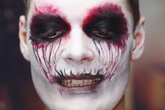 Maquillaje Halloween Del Hombre Imagen de archivo Imagen de
