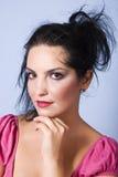 Maquillaje hermoso de la cara de la mujer Fotos de archivo libres de regalías