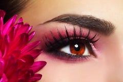 Maquillaje hermoso del ojo Imagenes de archivo