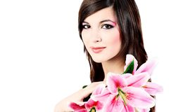 Maquillaje natural Imágenes de archivo libres de regalías