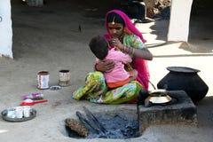 Maquillaje para el niño indio Fotografía de archivo libre de regalías