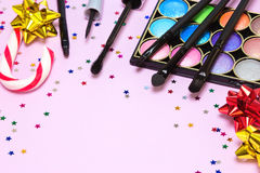 Maquillaje para el partido festivo Fotos de archivo libres de regalías