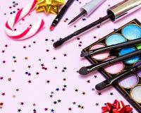 Maquillaje para la celebración de días festivos Fotos de archivo libres de regalías