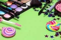 Maquillaje para la celebración de días festivos Fotos de archivo