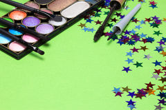 Maquillaje para la celebración de días festivos Imágenes de archivo libres de regalías