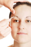 Maquillaje para la chica joven Foto de archivo