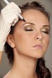 Maquillaje permanente imagen de archivo libre de regalías