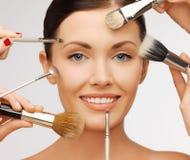 Maquillaje profesional foto de archivo libre de regalías