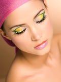 Maquillaje que desgasta hermoso de la mujer joven Imagen de archivo libre de regalías