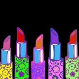 Maquillaje rojo del vector de la belleza de la moda del lápiz labial Fotos de archivo