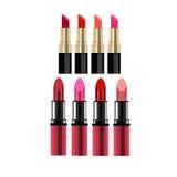 Maquillaje rojo del vector de la belleza de la moda del lápiz labial Foto de archivo libre de regalías