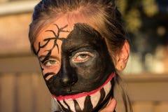 Maquillaje salvaje de la muchacha del zombi Fotografía de archivo libre de regalías