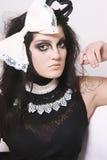 Maquillaje salvaje y pelo Imágenes de archivo libres de regalías