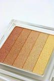 Maquillaje, sombra de ojo, un conjunto de cortinas Fotografía de archivo libre de regalías
