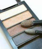 Maquillaje, sombra de ojo, un conjunto de cortinas Imágenes de archivo libres de regalías