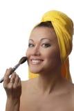 Maquillaje sonriente Imágenes de archivo libres de regalías